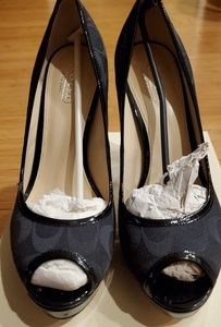 Coach Black Breana 12 cm platform heels